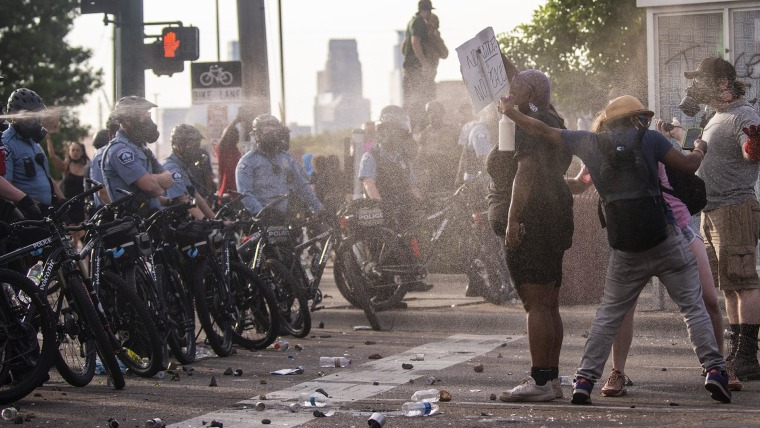George Floyd protest turns deadly; Minneapolis mayor requests ...