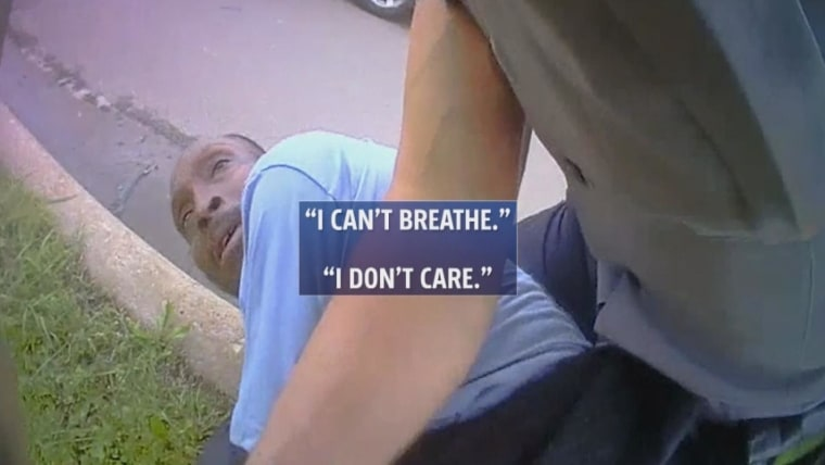 'I can't breathe,' Oklahoma man tells police before dying. 'I don't care,' officer responds.