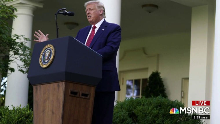 Trump Turns Rose Garden Event Into Campaign Speech