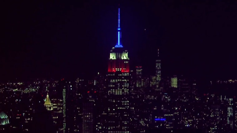 Live look: Empire State Building lit in honor of Ruth Bader Ginsburg