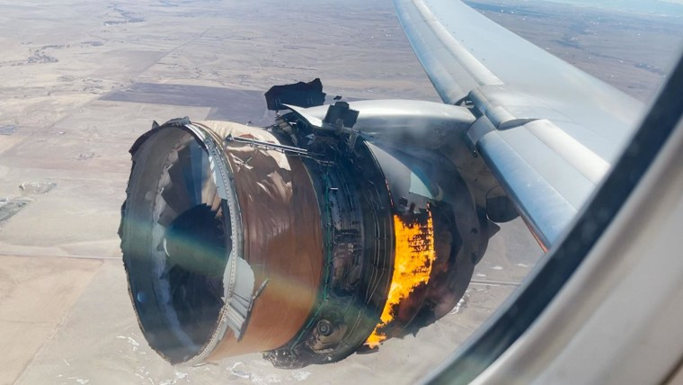 Plane engine that caught fire on United Airlines flight over Denver has troubled history