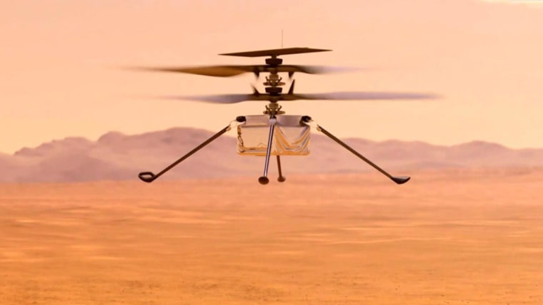 NASA helicopter set for historic first flight on Mars. 49