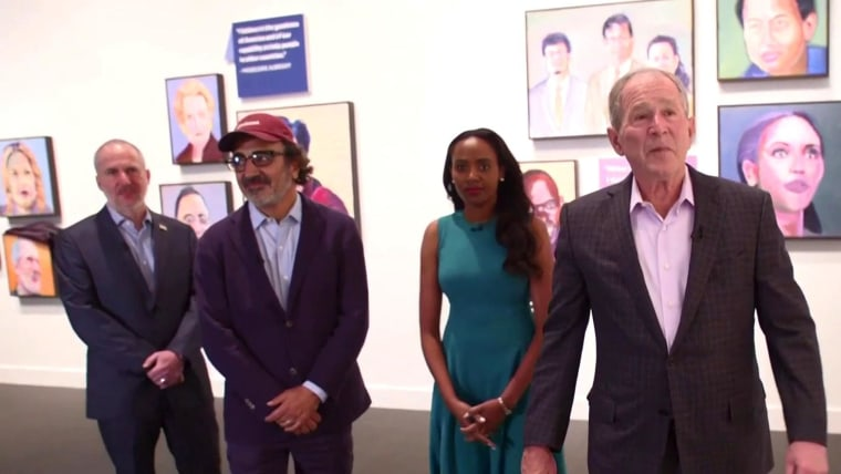 President Bush's immigration-focused art exhibition is an exercise in revisionism