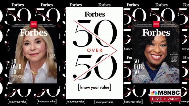 Forbes and Know Your Value launch inaugural 50 Over 50 list