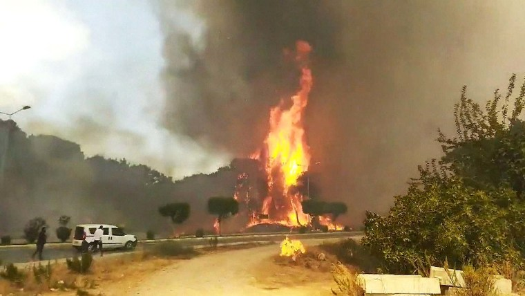 Tourists Evacuated as Wildfires Rage in Turkey, Italy, and Greece
