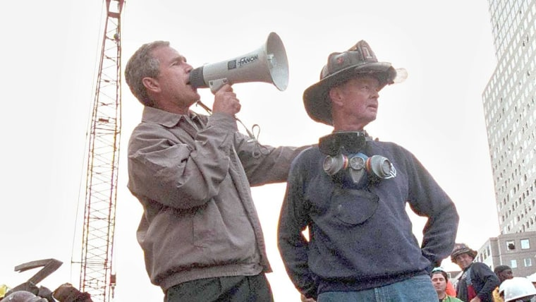 "In September 11 speech, Bush pays homage to ""America I know"", denounces domestic terrorist threat"