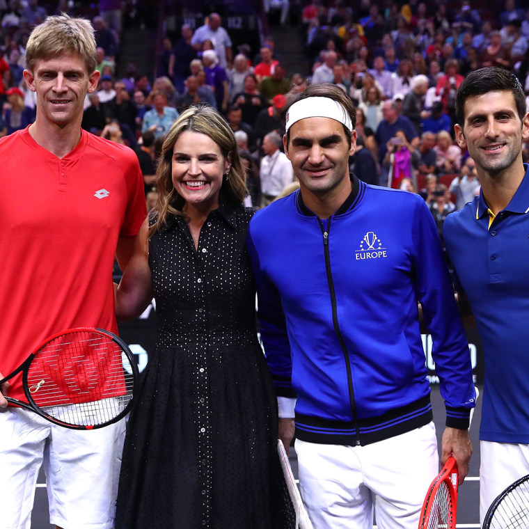 Savannah Guthrie and Roger Federer