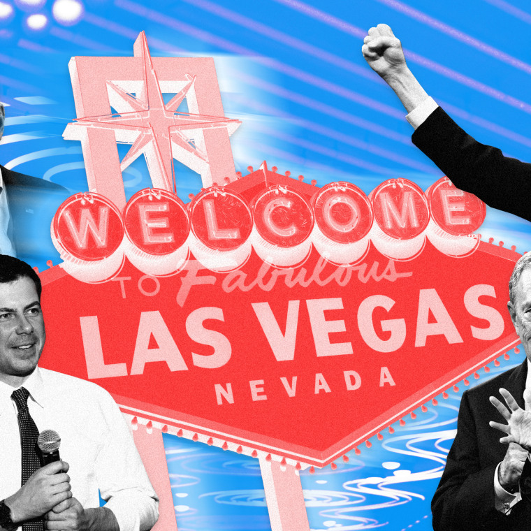 Image: NBC and MSNBC will host a Democratic presidential primary debate in Las Vegas on Feb. 19, 2020.