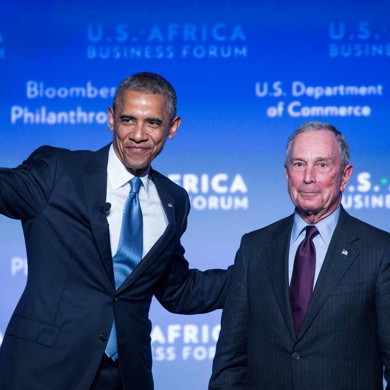 Image: Barack Obama and Mike Bloomberg