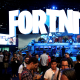 Image: Game enthusiasts and industry personnel visit the 'Fortnite' exhibit