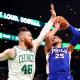 Image: Philadelphia 76ers v Boston Celtics