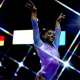 Image: Simone Biles performs a floor routine at the FIG Artistic Gymnastics World Championship in Stuttgart, Germany, on Oct. 13, 2019.