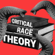 """Photo illustration: Elephant trunks attacking three books titled,\""""Critical\"""", \""""Race\"""" and \""""theory\""""."""