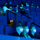 Image: People watch a film inside a theater at the Aquarium of the Pacific in Long Beach, Calif., on July 16, 2021.