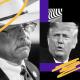 Illustration of Arizona State Rep. Mark Finchem and former President Donald Trump