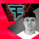 """Illustration of suspended FaZe Clan member, Frazier """"Kay"""" Khattri, the FaZe Clan logo and a cryptocurrency mine."""