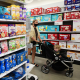 Image: Teething products for developing babies are displayed on shelves at a Target department store in Hollywood, Calif. on Sept. 2, 2021.