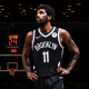 Kyrie Irving #11 of the Brooklyn Nets during the game against the Milwaukee Bucks during the 2021 NBA Playoffs on June 5, 2021 at Barclays Center in Brooklyn, N.Y.