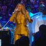 Beyonce performs at a memorial for Kobe Bryant.
