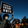 "Image: Protestors Hold ""Count Every Vote"" Protest Rally In Philadelphia"
