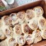 Close up of cinnamon rolls