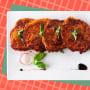 Fried salmon and sweet potato patties
