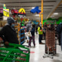 People shop in Fiesta supermarket on Feb. 16, 2021, in Houston.