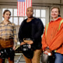 Welders Lily Kline,, Teia Leonard and Bailey Steele.
