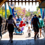 Image: Visitors pass through Sleepy Beauty Castle at Disneyland in Anaheim, Calif., on May 3, 2021.