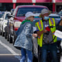 Image: Customers wait in line to fill their cars with gas at Costco on May 11, 2021, in Charlotte, N.C.