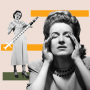 Illustration of annoyed woman with another woman pushing a vaccine away