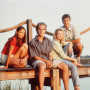 Image: The cast of television's 'Dawson's Creek' Katie Holmes, James Van Der Beek, Michelle Williams, and Joshua Jackson in 1997.