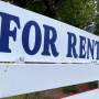 Image: A for rent sign during the eviction moratorium