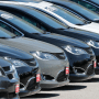 Image: Cars for sale at an auto dealer lot, in St. Louis County, Mo., on April 15, 2020