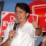 Image: Canada's Prime Minister Justin Trudeau campaigns in Winnipeg, Manitoba