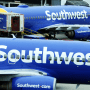 A Southwest Airlines airplane taxis from a gate at Baltimore Washington International Thurgood Marshall Airport on Oct. 11, 2021, in Baltimore.