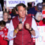 Republican gubernatorial candidate Glenn Youngkin speaks at a rally in Glen Allen, Va., on Oct. 23, 2021.