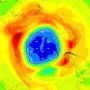 Image: Ozone hole South Pole