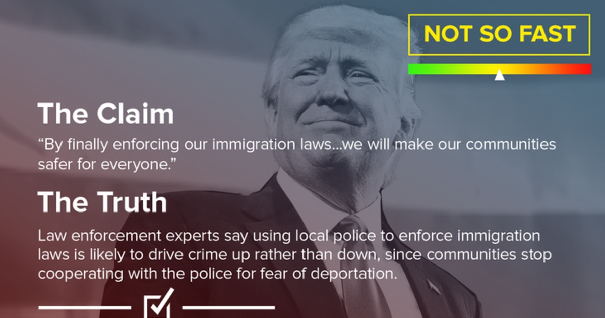 Fact Check Trump Claims Immigration Enforcement Makes Us Safer Does It Nbc News