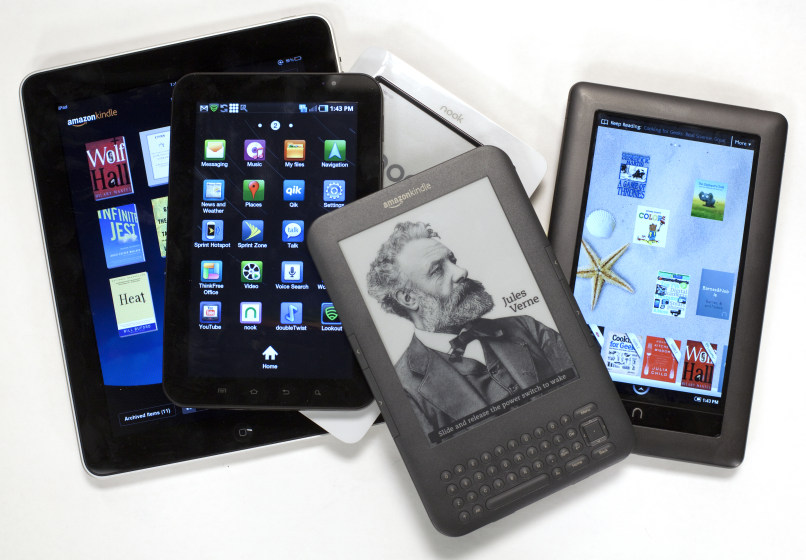 iPad, Galaxy Tab, Nook color, Nook, Kindle