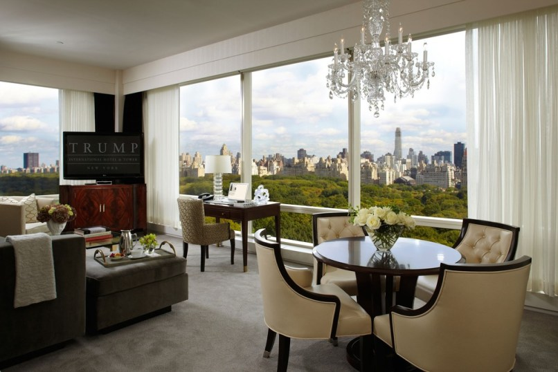 Image: The view from a Trump International & Hotel and Tower New York room