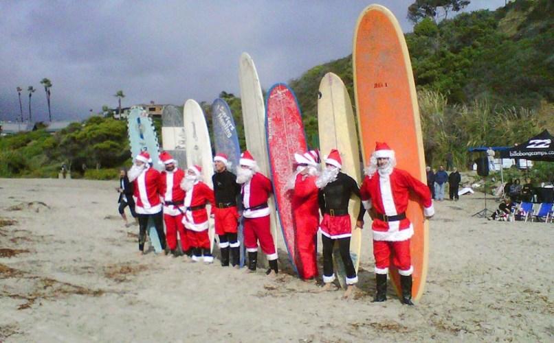 Image: Surfing Santas