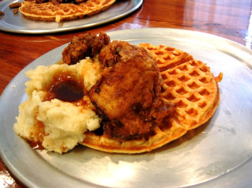 Image: fried chicken with waffles