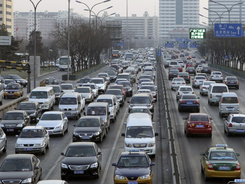 Image: Traffic jam in Beijing