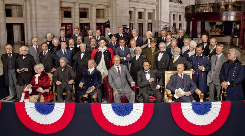 Image: Wax presidents