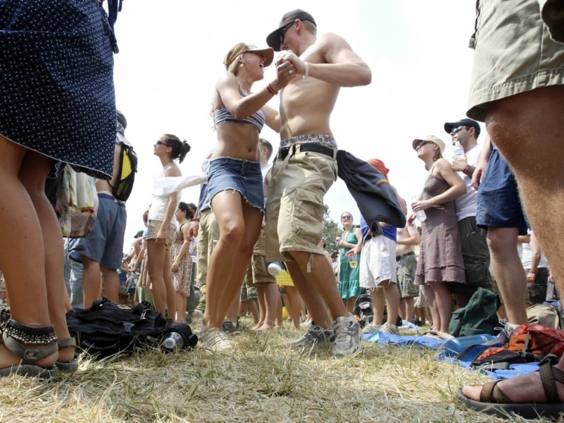 Image: Music fans at Bonnaroo