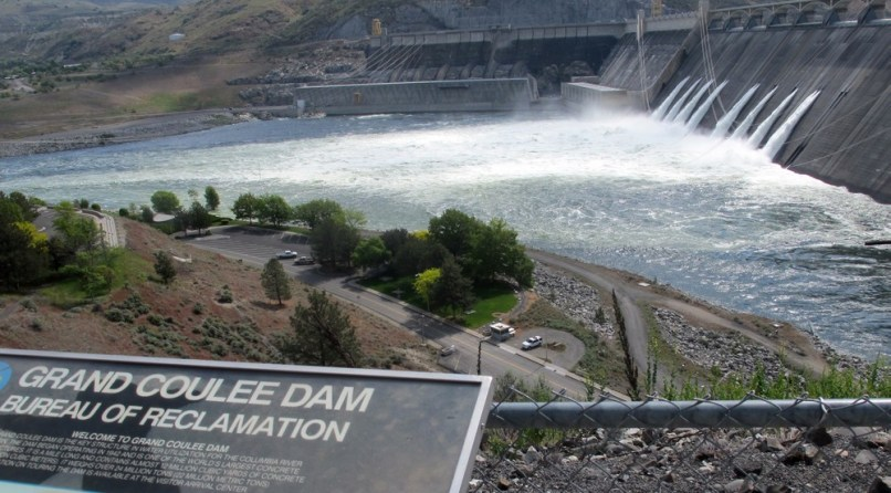 Image: Water released from Grand Coulee Dam