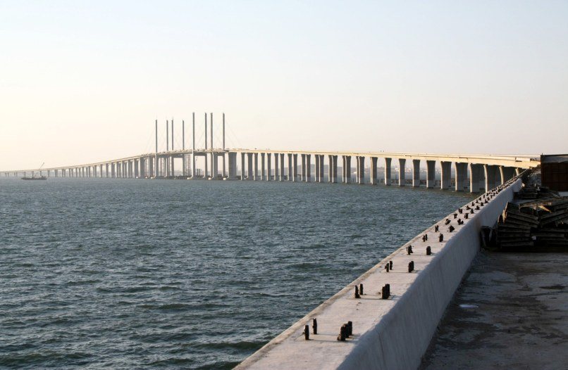 Image: The Jiaozhou Bay bridge in China