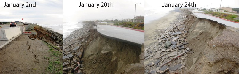 Image: Erosion along San Francisco beach