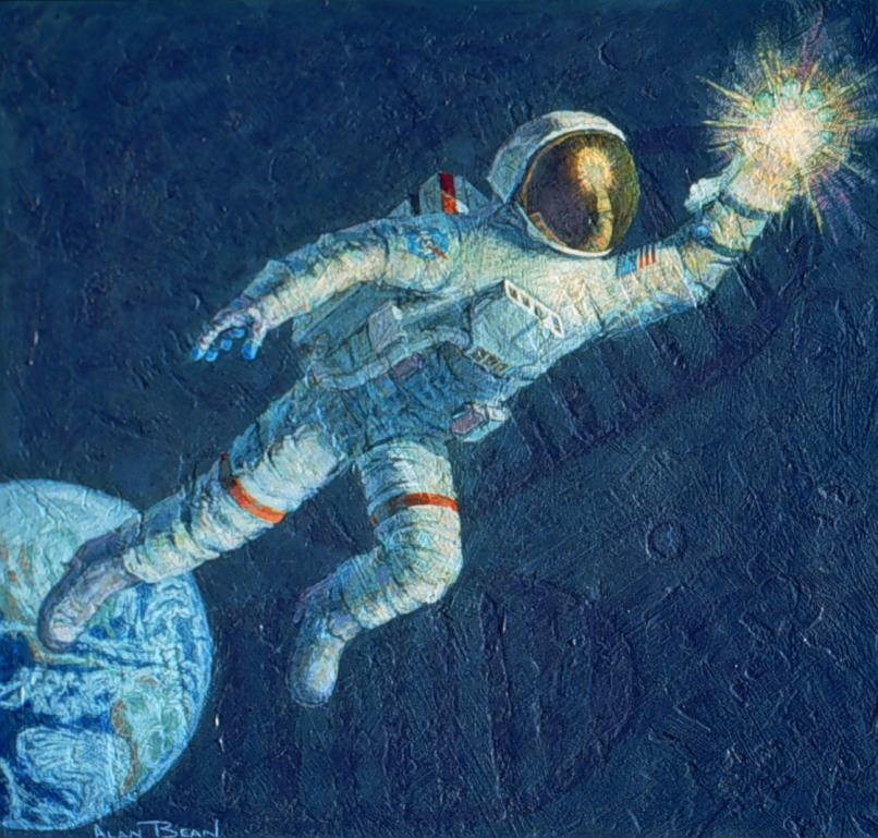 astronaut in space painting - photo #7